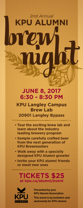 Kpuaa Hosts Alumni Brew Night At Kpu Kpu Ca Kwantlen Polytechnic