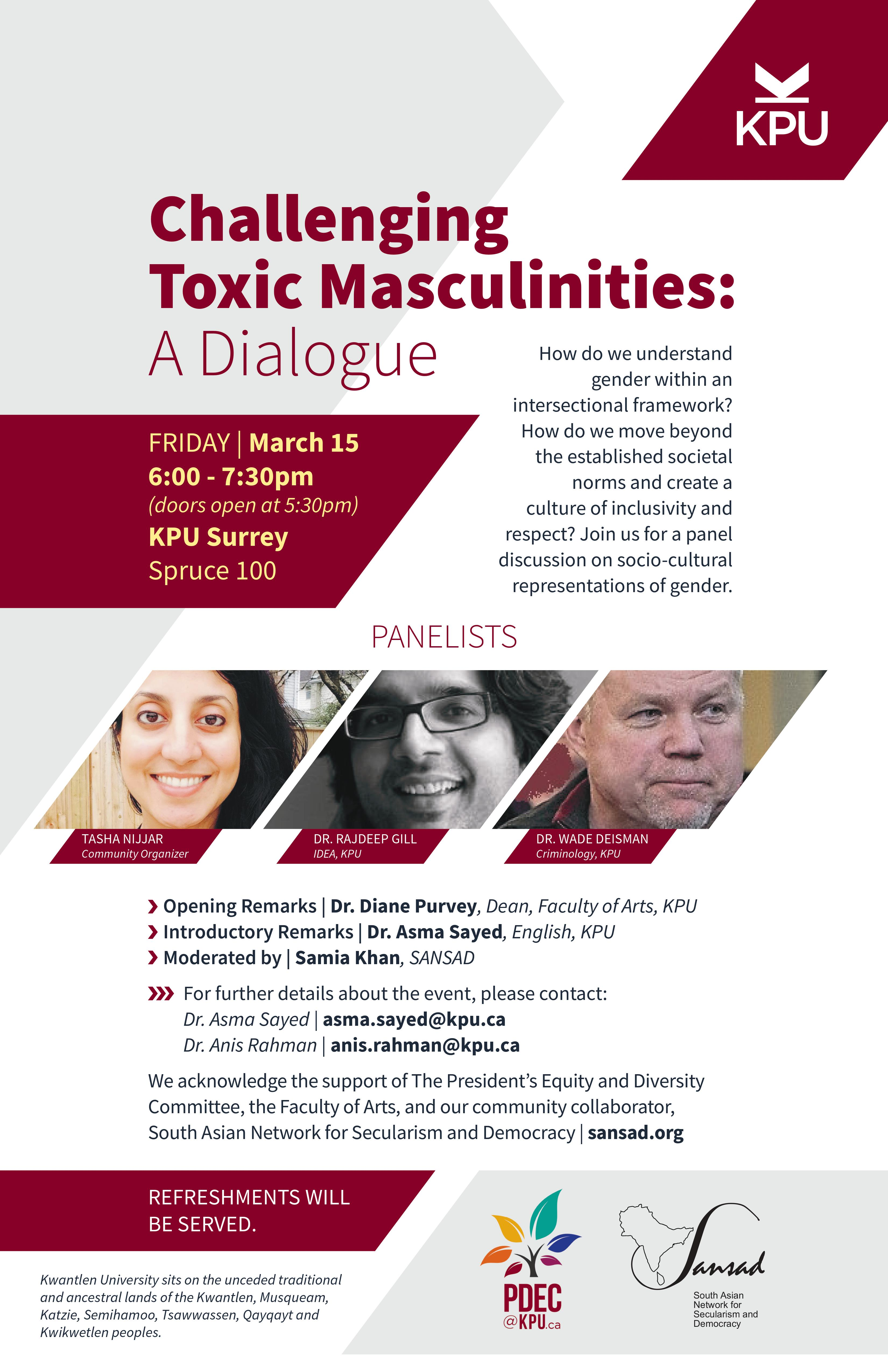 Challenging Toxic Masculinities