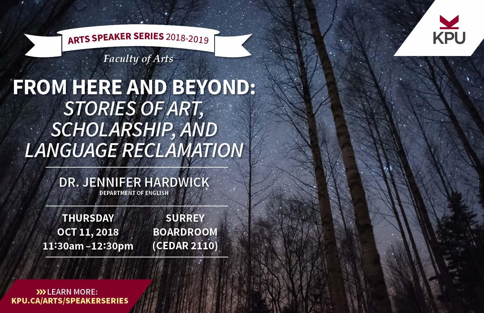 Dr. Jennifer Hardwick - Speaker Series