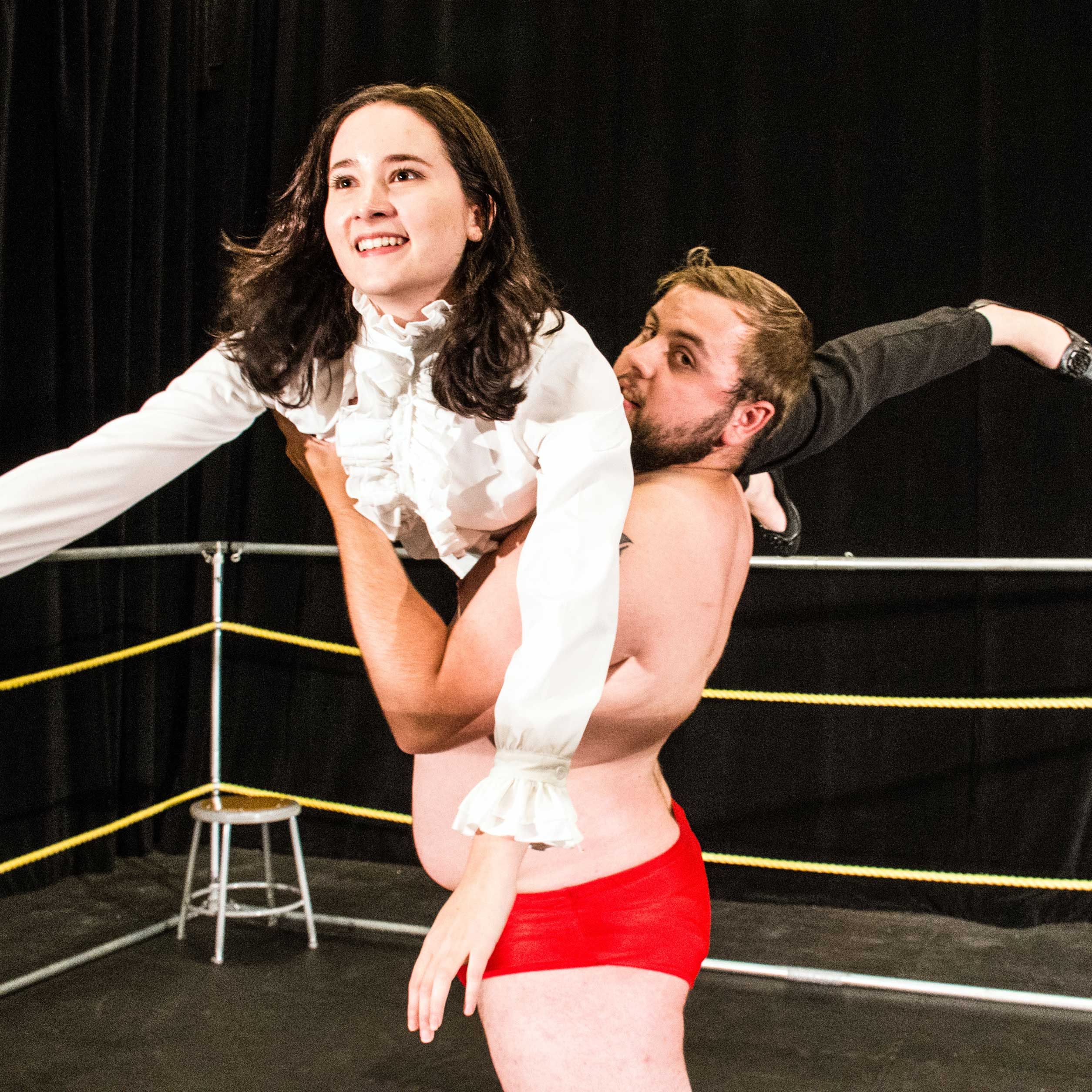 KPU students Stephanie Davies as Tranio and Joseph Beland at the Ring Guy.jpg