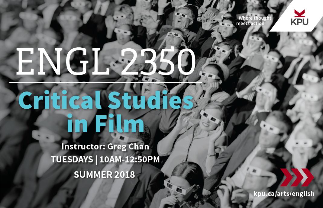 English 2350 - Critical Studies in Film