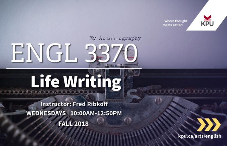 English 3370 - Life Writing