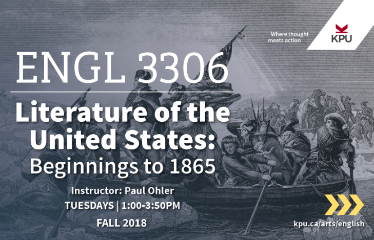 English 3306 - Literature of the United States, Beginnings to 1865