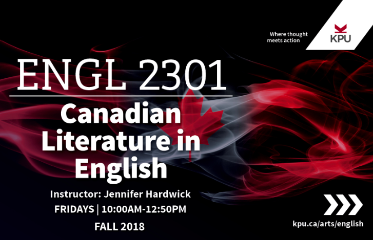 English 2301 - Canadian Literature in English