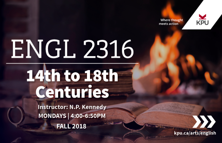 English 2316 - 14th to 18th Centuries
