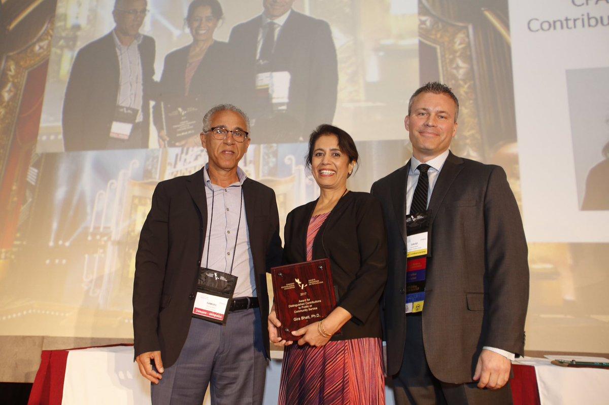CPA award to Dr. Gira Bhatt