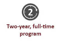 Two-year, full-time program