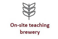 On-site teaching brewery