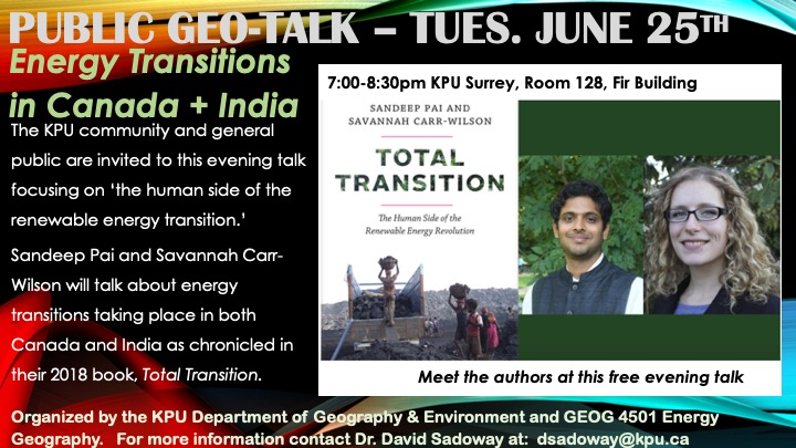 Energy Transitions in Canada & India