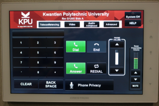 Touch Panel - Teleconference Screen
