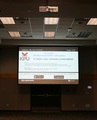 Projection Screen - Wireless Presentation Instructions