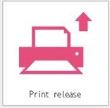 Print Release icon on printer's main menu