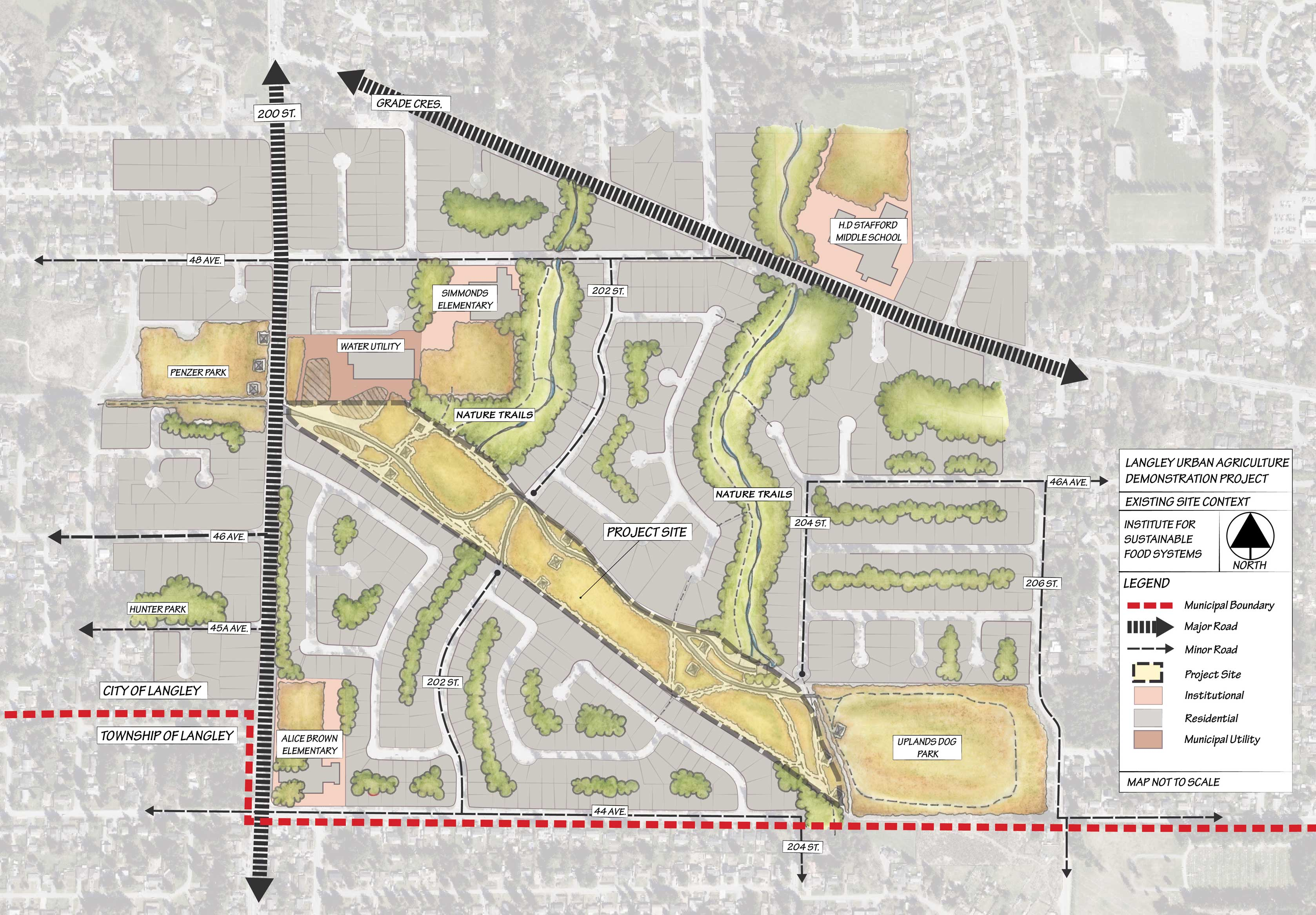Map of Langley Project Site