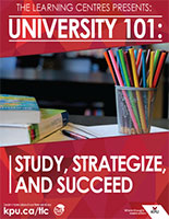 University 101: Study, Strategize and Succeed