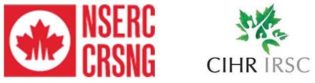 NSERC and CIHR logos