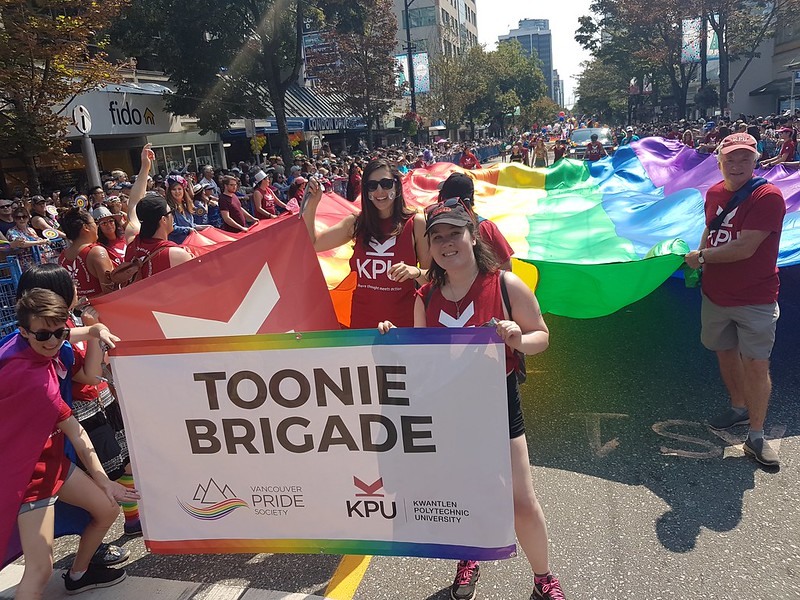 Kwantlen Polytechnic University (KPU) participates in Vancouver Pride 2019