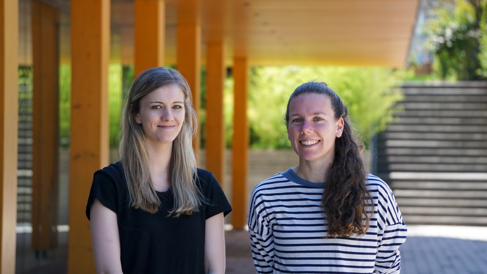 Kwantlen Polytechnic University Marie-Pier Alary and Bailee van Rikxoort students are vying for top spot in a competition to design Canada's first zero-emission concept car.