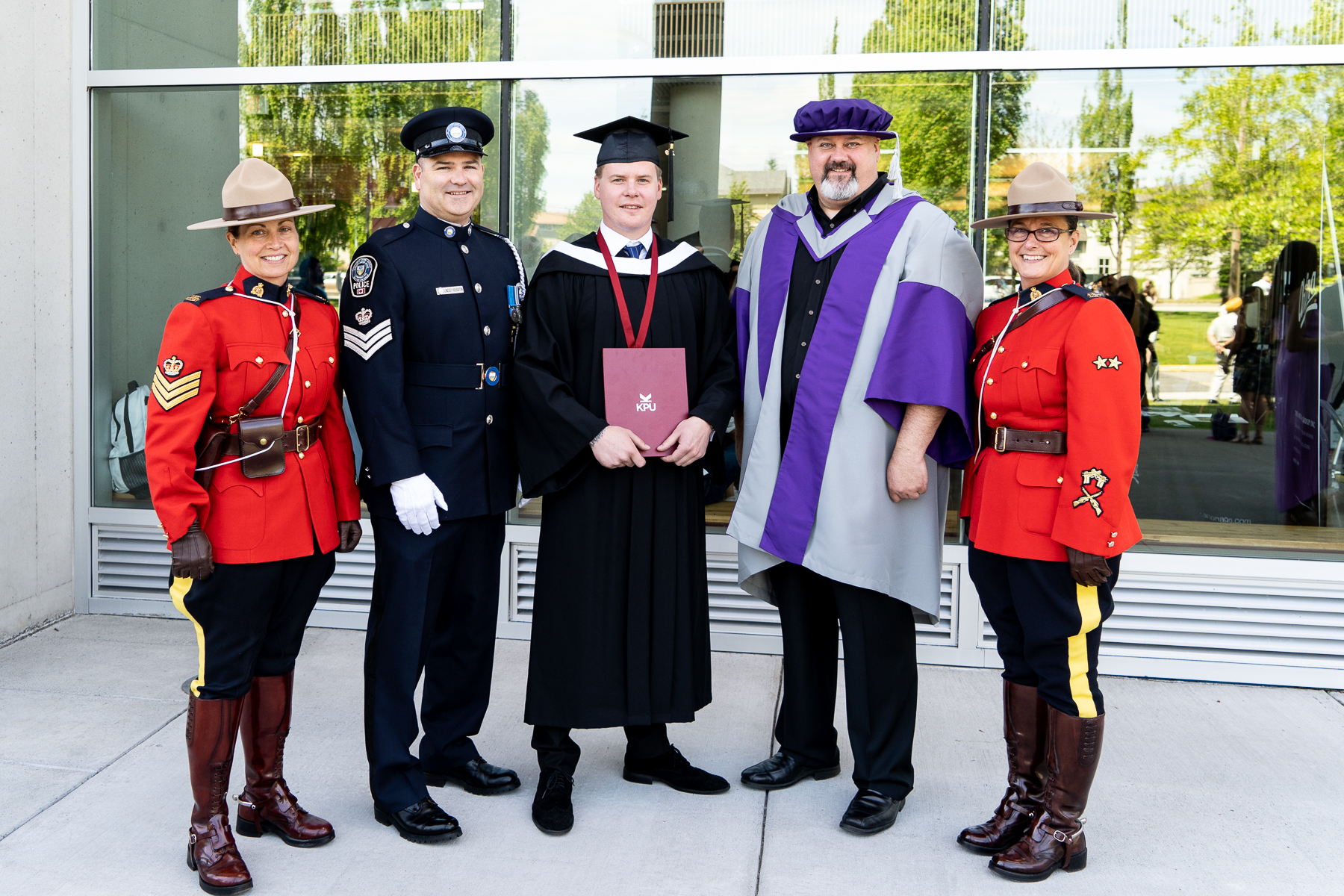 Jordan Buna recently graduated from Kwantlen Polytechnic University after overcoming adversity.