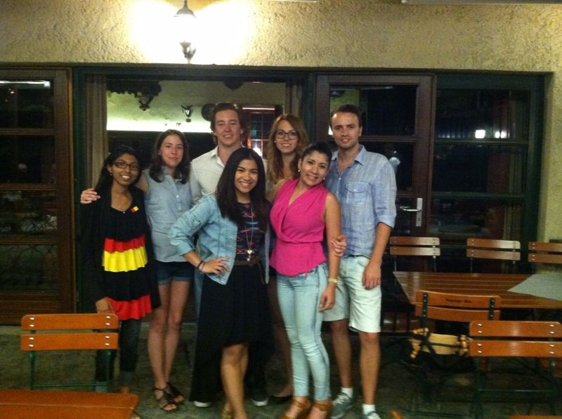 Farewell Dinner Group Photo with students from Florida, Germany, and Spain
