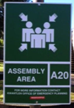 Designated Evacuation Signage
