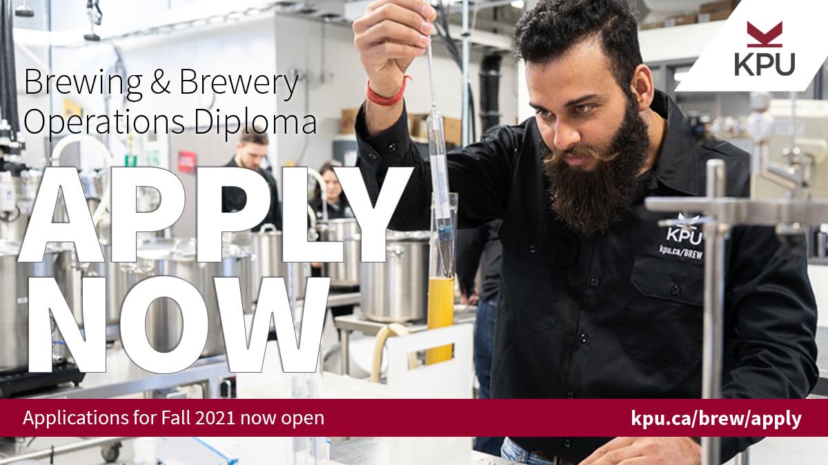 KPU, beer school, brewing, diploma, university, brewing careers, brewer, head brewer, brewmaster, craft beer, Master Brewers Association, MBAA, BC Craft Brewers Guild