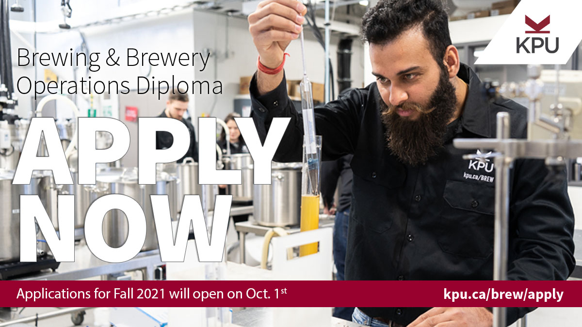 KPU Brewing and Brewery Operations Diploma Apply Now 2021