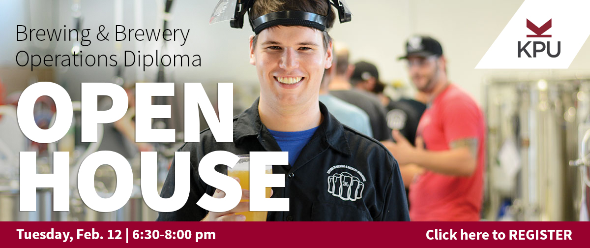 KPU Brewing Open House Information Session, brewing careers, beer university, brewing diploma, brewing education, learn to brew, open a brewery, craft beer, BC Craft Beer