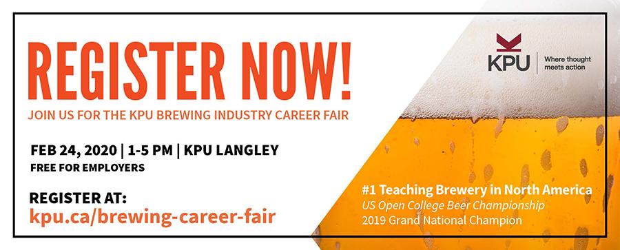 KPU Brewing Career Fair, craft brewing, careers, brewer, brewery openings