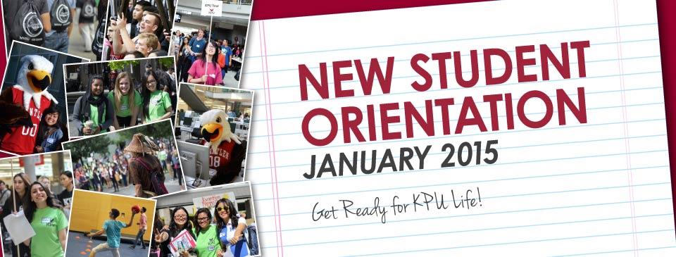 Student Orientation - January 2015