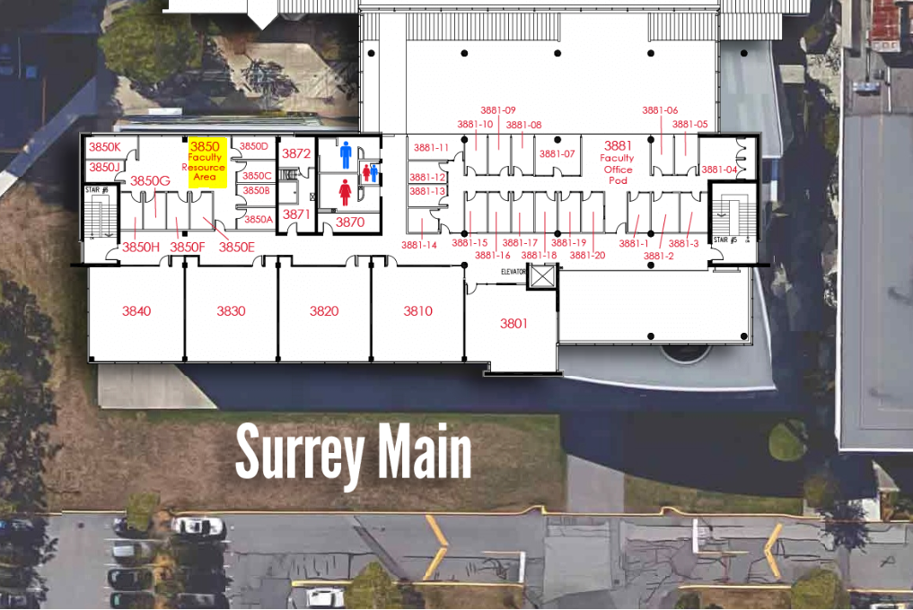 Sociology Department Surrey Location Map
