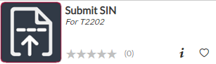 Submit SIN tile