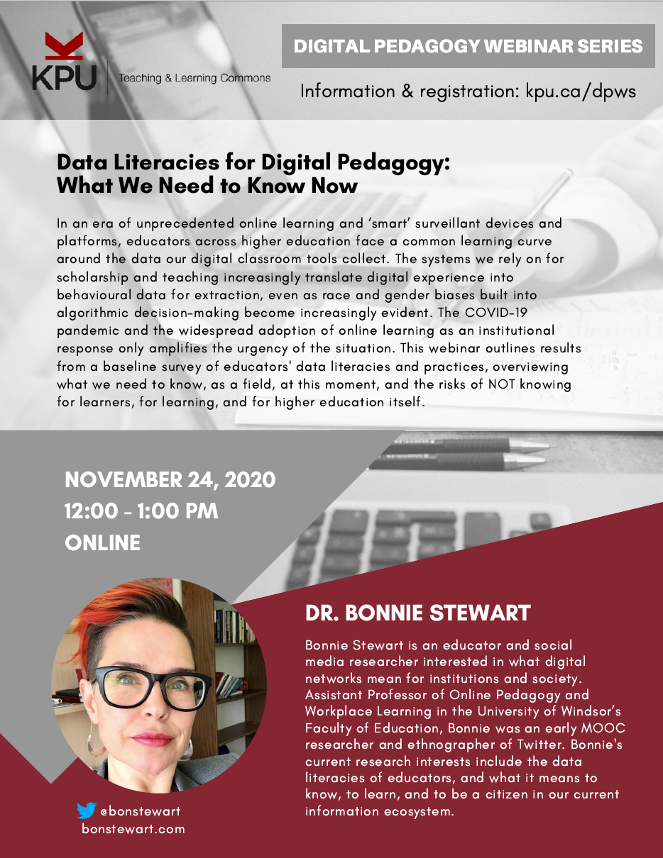 Data Literacies for Digital Pedagogy: What We Need to Know Now