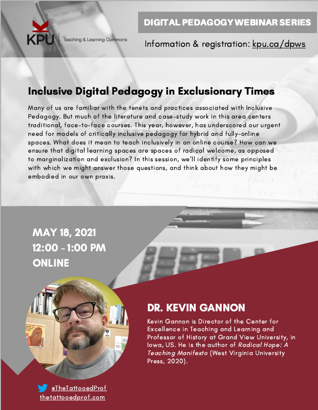 Inclusive Digital Pedagogy in Exclusionary Times