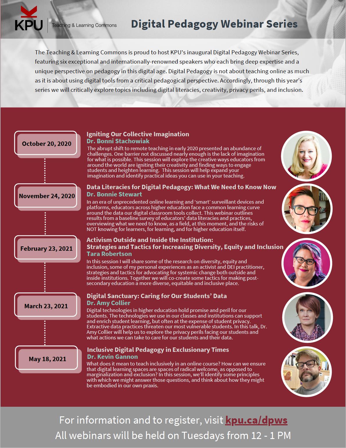 Digital Pedagogy Webinar Series Flyer