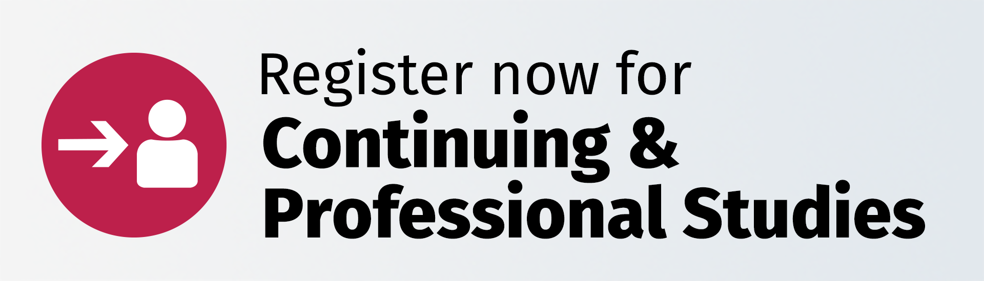 Register for Continuing and Professional Studies