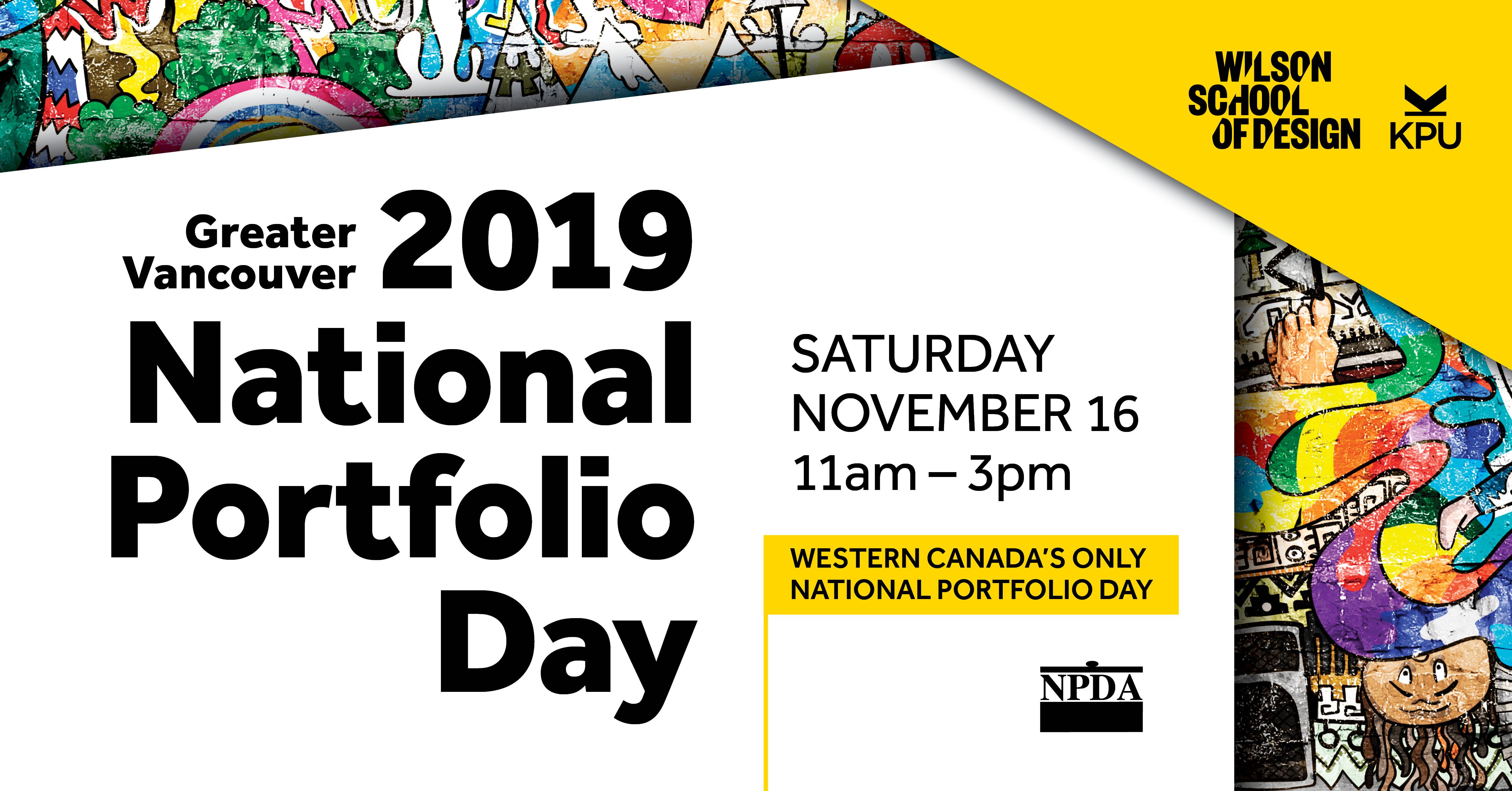2019 National Portfolio Day