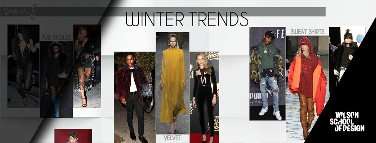 Examples of seasonal fashion trends.