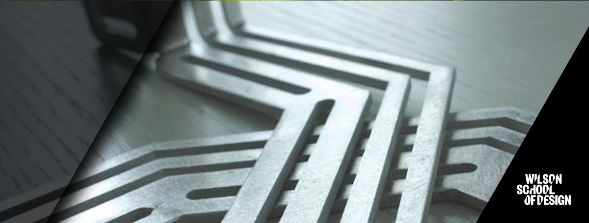 Steel shaped in a path.
