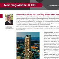 KPU's INSTL Newsletter