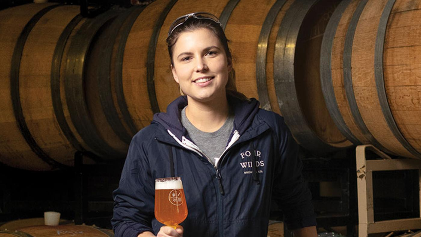 Ashley Brooks, Four Winds Brewing, quality control manager, brewer, KPU Brewing alumna, bc craft beer, women in beer