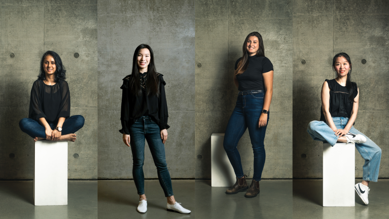 Monica Chandel, Gazella Cheng, Savannah Sami-Bacon, and Tiffany Mao Xu
