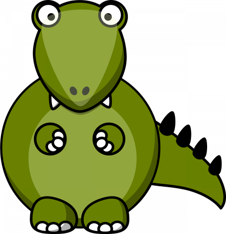 A picture of a cartoon dinosaur