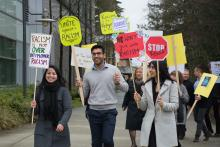 Anti-racism walk around KPU Surrey March 21, 2018