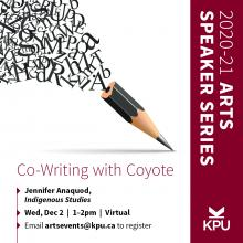 Faculty of Arts Speaker Series: Co-Writing With Coyote