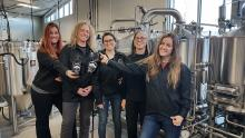 KPU Brewing students and Pink Boots society collaborate to create beer on International Women's Day