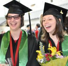 The first three students of the ground-breaking Including All Citizens program at Kwantlen Polytechnic University have graduated.
