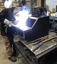 Jaeden Wildenboer, apprentice welder and KPU grad through the Youth TRAIN in Trades program