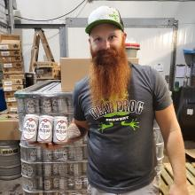 Graduates of Kwantlen Polytechnic University's brewing and brewery operations diploma program have joined with Dead Frog Brewery and the BC Craft Brewer's Guild to launch a new beer to kick off BC Craft Beer Month.