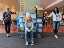 Kwantlen Polytechnic University faculty and staff are donating much needed supplies to local hospitals dealing with the COVID-19 pandemic